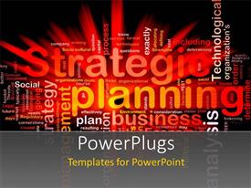 PowerPlugs: PowerPoint template with various words related to planing in the background