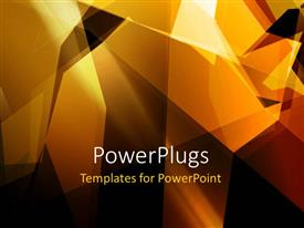 PowerPlugs: PowerPoint template with vector wallpaper with geometric patterns and black color