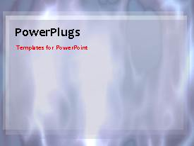 PowerPlugs: PowerPoint template with video of abstract animated shapes and shades on first slide and non-video background on next slides