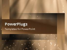 PowerPlugs: PowerPoint template with a video of an abstract brown colored background in motion