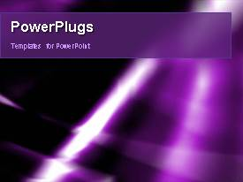 PowerPlugs: PowerPoint template with video of abstract purple lights and shapes on first slide and static slides next
