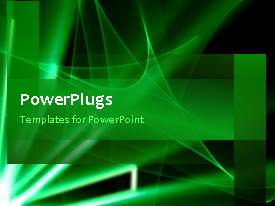 PowerPlugs: PowerPoint template with video of abstract rotating green waves in green background