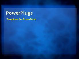 PowerPlugs: PowerPoint template with video of abstract water flow on first slide and non-video background on next slides