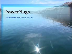 PowerPlugs: PowerPoint template with video of flowing water on first slide and non-video design on following slides