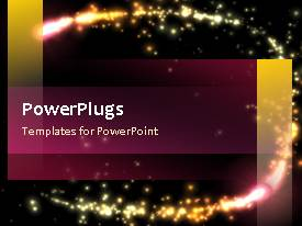 PowerPlugs: PowerPoint template with video of pink and yellow lights tracing circular outline