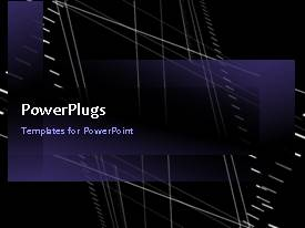 PowerPlugs: PowerPoint template with video of purple abstract technology in motion in dark background