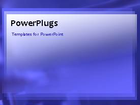 PowerPlugs: PowerPoint template with video of purple waves in motion in purple background