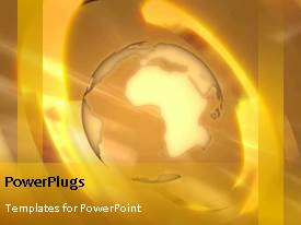 PowerPlugs: PowerPoint template with video of rotating yellow earth globe in yellow background
