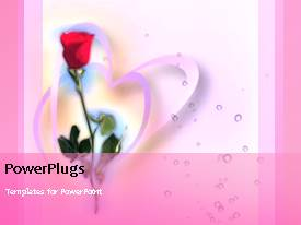 PowerPlugs: PowerPoint template with video showing rotating hearts next to red rose flower