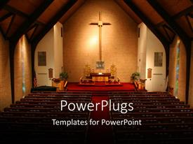 PowerPlugs: PowerPoint template with a view of the church in darkness