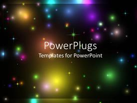 PowerPlugs: PowerPoint template with a view of lots of colorful lights in space