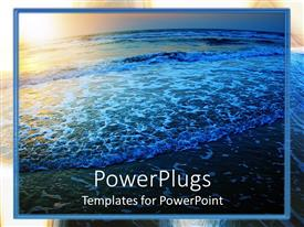 PowerPlugs: PowerPoint template with a view of sea during sunset with natural dark beauty