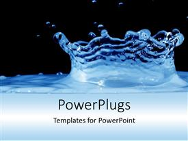 PowerPlugs: PowerPoint template with a view of water with a deep ripple over a black background