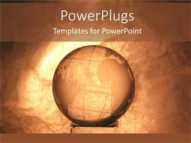 PowerPlugs: PowerPoint template with vintage background with earth globe sitting on concrete pipe