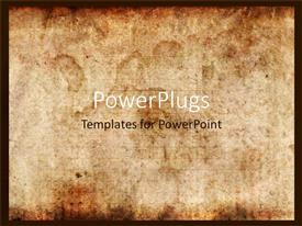 PowerPlugs: PowerPoint template with vintage background of old paper with signs of burning or touch of time
