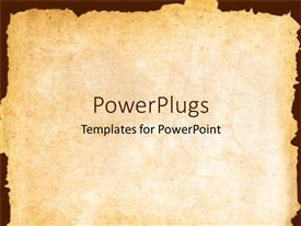 PowerPlugs: PowerPoint template with vintage background showing old paper with irregular margins