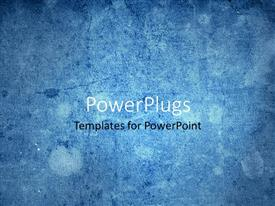 PowerPlugs: PowerPoint template with vintage looking grunge texture blue background, solid colored blue background
