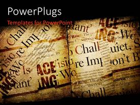PowerPlugs: PowerPoint template with vintage paper with scattered texts written and black edges