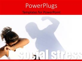 PowerPlugs: PowerPoint template with violent man hitting frightened woman, social stress concept