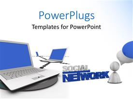 PowerPlugs: PowerPoint template with a number of figures with a number of laptops