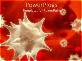PowerPlugs: PowerPoint template with viruses in blood