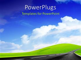 PowerPlugs: PowerPoint template with a wallpaper with clouds in the background