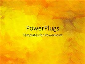 PowerPlugs: PowerPoint template with water color art abstract textured background