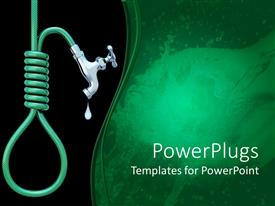 PowerPlugs: PowerPoint template with water pipe with tap giving the concept of faucet and noose