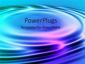 PowerPoint template displaying water ripples graphic pink blue metaphor abstract
