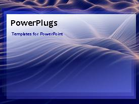 PowerPlugs: PowerPoint template with waves in the background with a sentence