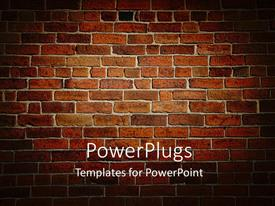 PowerPlugs: PowerPoint template with weather beaten brown and red brick wall