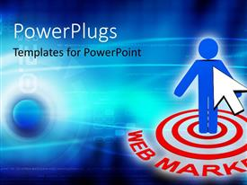 PowerPlugs: PowerPoint template with a person with a number of circles around him