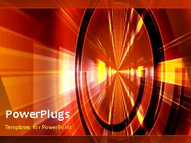 PowerPlugs: PowerPoint template with a wheel with brownish background and place for text