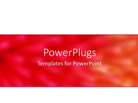 PowerPlugs: PowerPoint template with white background with large band of abstract red pink and orange background