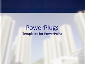PowerPlugs: PowerPoint template with a white and blue colored background with some shapes