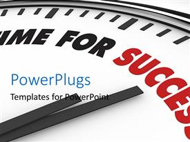 PowerPlugs: PowerPoint template with a clock with a time for success