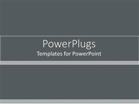 PowerPlugs: PowerPoint template with white horizontal lines with gradient of light and dark grey