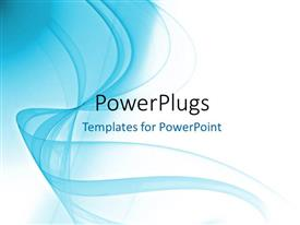 PowerPlugs: PowerPoint template with a white and light bluish background
