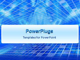 PowerPlugs: PowerPoint template with white lines forming mesh animated on blue background