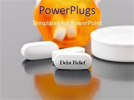 PowerPlugs: PowerPoint template with a number of pills with greyish background