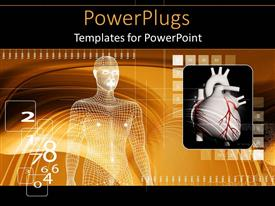PowerPlugs: PowerPoint template with white mesh depiction of a human with a heart beside it