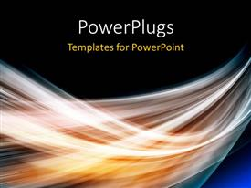 PowerPlugs: PowerPoint template with white motion blurred lights on black background
