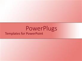 PowerPlugs: PowerPoint template with white to pink ombre gradient background