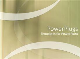 PowerPlugs: PowerPoint template with white striped line on edge with tan curves and white ribbons