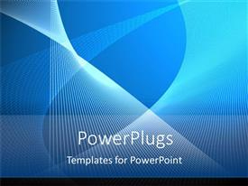 PowerPlugs: PowerPoint template with white stripes blue abstract white text background simple modern