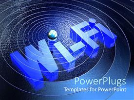 PowerPlugs: PowerPoint template with wi-Fi hotspot with visualization of signal over large body of water