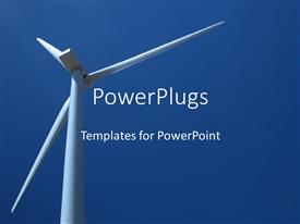PowerPlugs: PowerPoint template with a windmills with bluish background and place for text