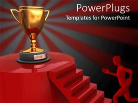 PowerPlugs: PowerPoint template with the Winner's destination