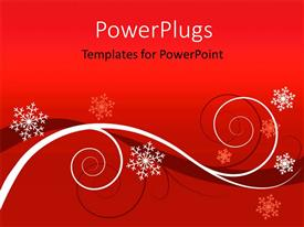 PowerPlugs: PowerPoint template with winter red floral background Christmas greeting card