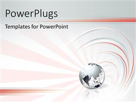 PowerPlugs: PowerPoint template with wired earth globe over abstract grey background